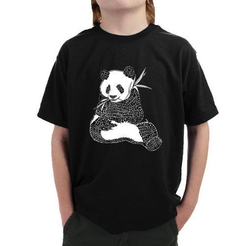 LA Pop Art Boy's Word Art T-shirt - ENDANGERED SPECIES