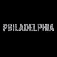 Load image into Gallery viewer, LA Pop Art Men's Word Art Tank Top - PHILADELPHIA NEIGHBORHOODS