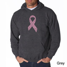 Load image into Gallery viewer, LA Pop Art Men's Word Art Hooded Sweatshirt - CREATED OUT OF 50 SLANG TERMS FOR BREASTS
