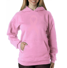 Load image into Gallery viewer, LA Pop Art Women's Word Art Hooded Sweatshirt -CREATED OUT OF 50 SLANG TERMS FOR BREASTS