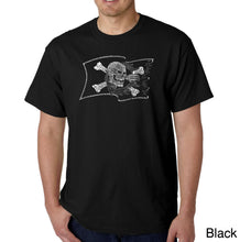 Load image into Gallery viewer, LA Pop Art Men's Word Art T-shirt - FAMOUS PIRATE CAPTAINS AND SHIPS