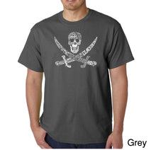 Load image into Gallery viewer, LA Pop Art Men's Word Art T-shirt - PIRATE CAPTAINS, SHIPS AND IMAGERY