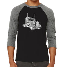 Load image into Gallery viewer, LA Pop Art Men's Raglan Baseball Word Art T-shirt - KEEP ON TRUCKIN'