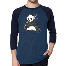 Load image into Gallery viewer, LA Pop Art Men's Raglan Baseball Word Art T-shirt - ENDANGERED SPECIES