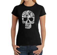 Load image into Gallery viewer, LA Pop Art Women's Word Art T-Shirt - Sex, Drugs, Rock & Roll