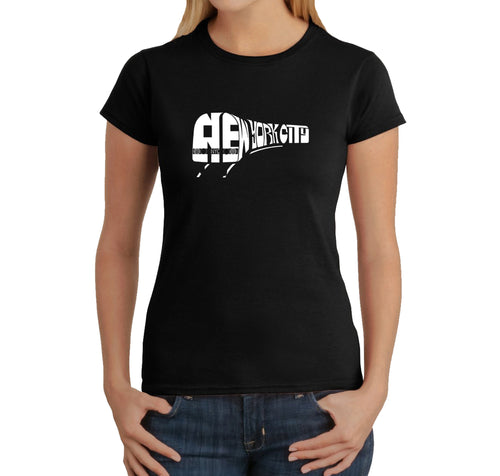 LA Pop Art Women's Word Art T-Shirt - NY SUBWAY