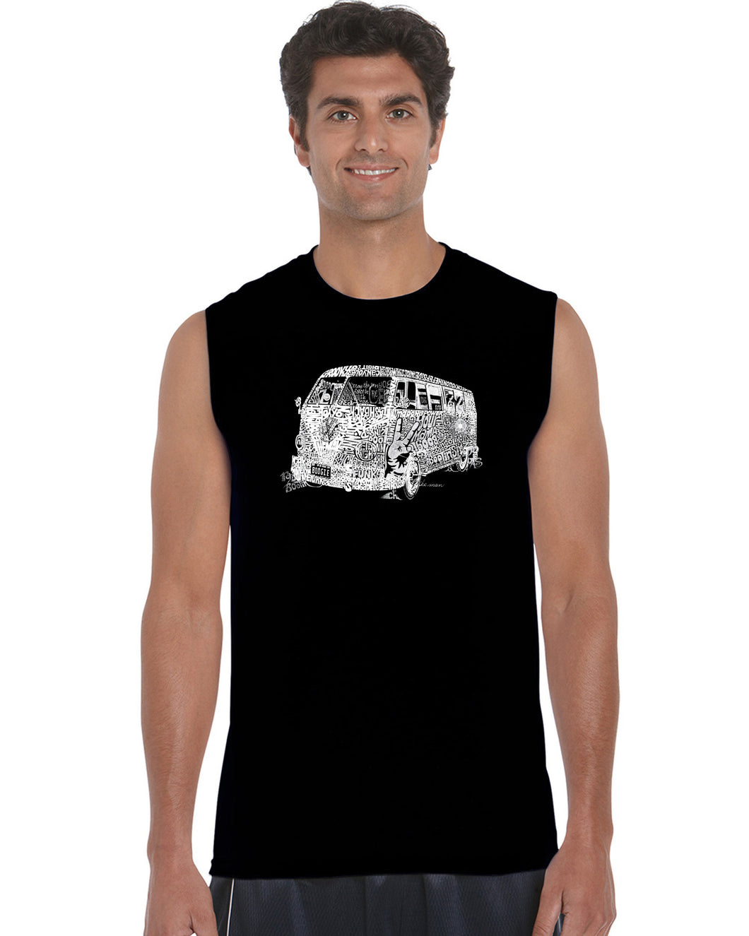 LA Pop Art Men's Word Art Sleeveless T-shirt - THE 70'S