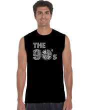 Load image into Gallery viewer, LA Pop Art Men's Word Art Sleeveless T-shirt - 90S