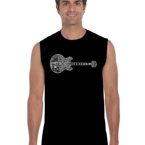 LA Pop Art  Men's Word Art Sleeveless T-shirt - Blues Legends