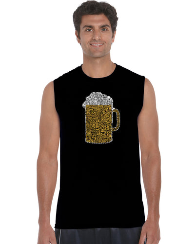 LA Pop Art Men's Word Art Sleeveless T-shirt - Slang Terms for Being Wasted