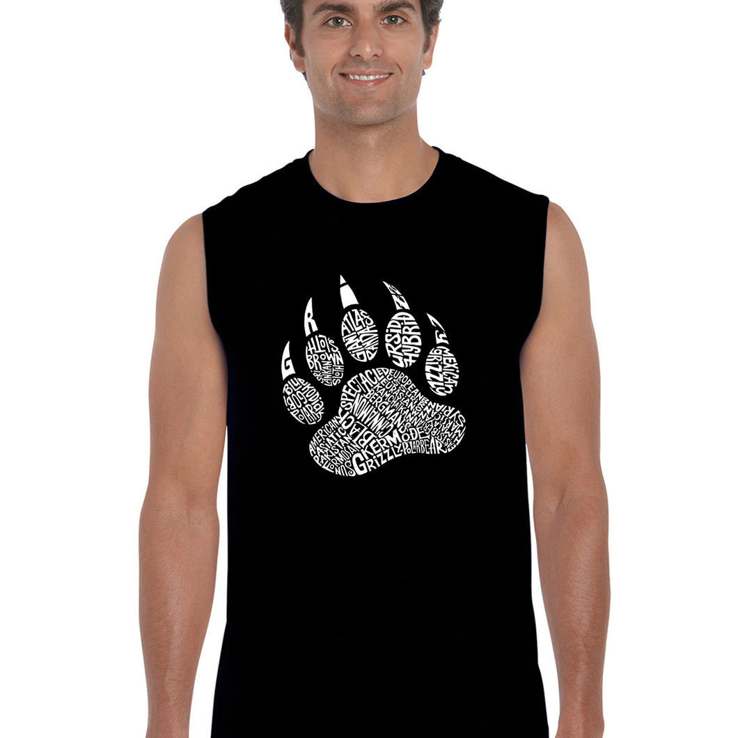 LA Pop Art  Men's Word Art Sleeveless T-shirt - Types of Bears