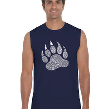 Load image into Gallery viewer, LA Pop Art  Men's Word Art Sleeveless T-shirt - Types of Bears