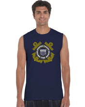 Load image into Gallery viewer, LA Pop Art Men's Word Art Sleeveless T-shirt - Coast Guard