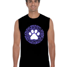 Load image into Gallery viewer, LA Pop Art  Men's Word Art Sleeveless T-shirt - Gandhi's Quote on Animal Treatment