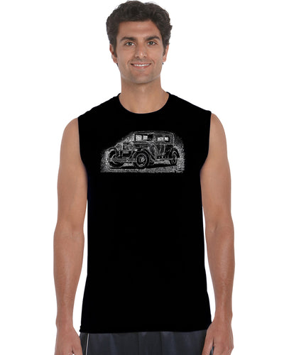 LA Pop Art Men's Word Art Sleeveless T-shirt - Legendary Mobsters