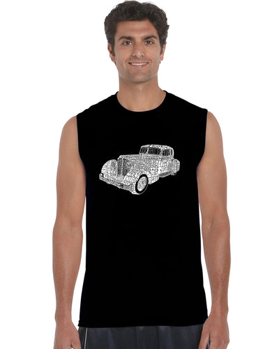 LA Pop Art Men's Word Art Sleeveless T-shirt - Mobsters