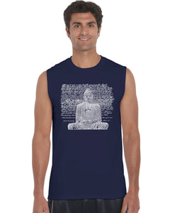 LA Pop Art Men's Word Art Sleeveless T-shirt - Zen Buddha