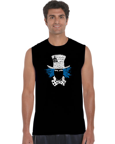 LA Pop Art Men's Word Art Sleeveless T-shirt - The Mad Hatter