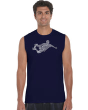 Load image into Gallery viewer, LA Pop Art Men's Word Art Sleeveless T-shirt - POPULAR SKATING MOVES & TRICKS