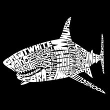Load image into Gallery viewer, LA Pop Art Men's Premium Blend Word Art T-shirt - SPECIES OF SHARK