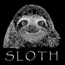 Load image into Gallery viewer, LA Pop Art Men's Word Art Sleeveless T-shirt - Sloth