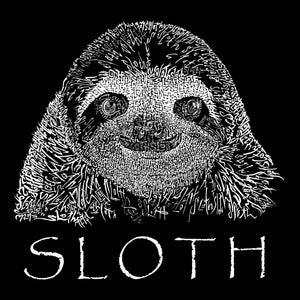 LA Pop Art Men's Word Art Sleeveless T-shirt - Sloth