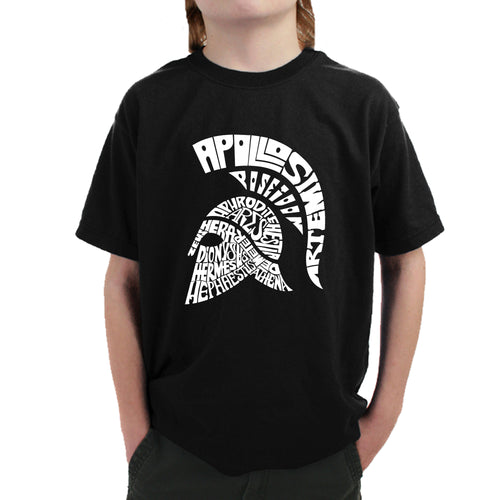 LA Pop Art Boy's Word Art T-shirt - SPARTAN