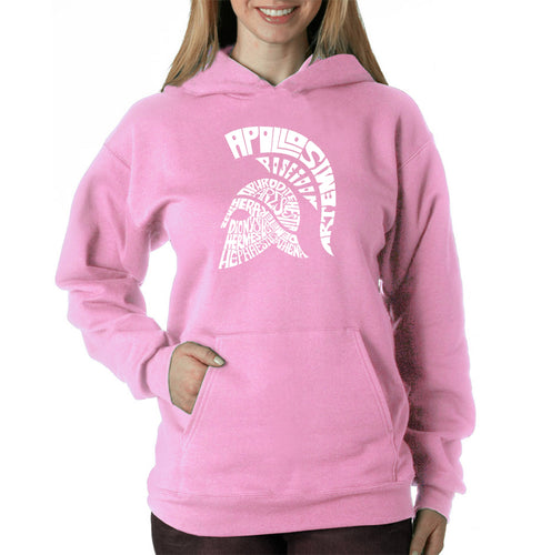 LA Pop Art Women's Word Art Hooded Sweatshirt -SPARTAN