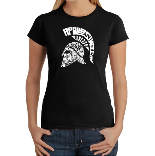 LA Pop Art Women's Word Art T-Shirt - SPARTAN