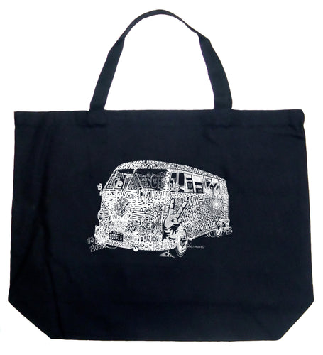 LA Pop Art Large Word Art Tote Bag - THE 70'S