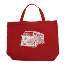 Load image into Gallery viewer, LA Pop Art Large Word Art Tote Bag - THE 70'S