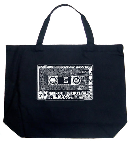 LA Pop Art Large Word Art Tote Bag - The 80's