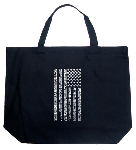 LA Pop Art Large Word Art Tote Bag - National Anthem Flag