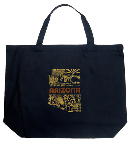 LA Pop Art Large Word Art Tote Bag - Az Pics