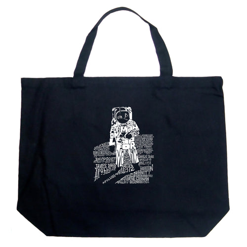 LA Pop Art Large Word Art Tote Bag - ASTRONAUT