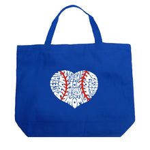 Load image into Gallery viewer, LA Pop Art Large Word Art Tote Bag - Baseball Mom
