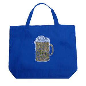 LA Pop Art Large Word Art Tote Bag - Slang Terms for Being Wasted