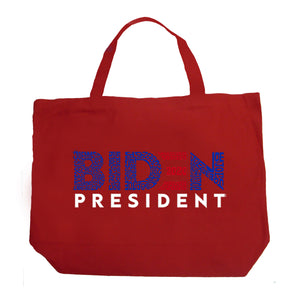 LA Pop Art Large Word Art Tote Bag - Biden 2020