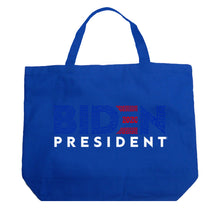 Load image into Gallery viewer, LA Pop Art Large Word Art Tote Bag - Biden 2020