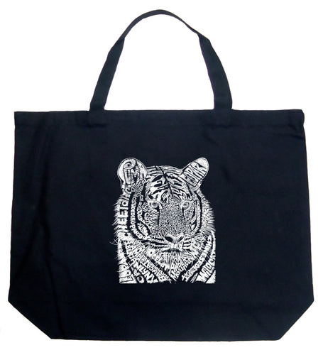 LA Pop Art Large Word Art Tote Bag - Big Cats