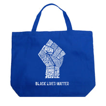 Load image into Gallery viewer, LA Pop Art Large Word Art Tote Bag - Black Lives Matter