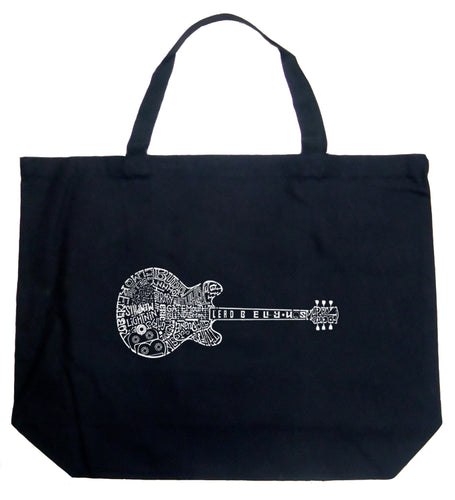 LA Pop Art Large Word Art Tote Bag - Blues Legends