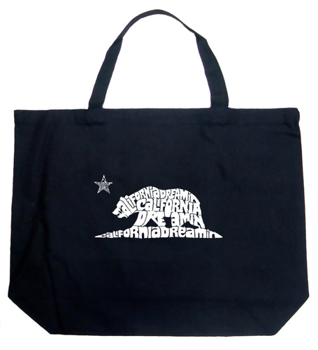 LA Pop Art Large Word Art Tote Bag - California Dreamin