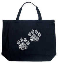 Load image into Gallery viewer, LA Pop Art Large Word Art Tote Bag - Cat Mom