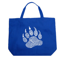 Load image into Gallery viewer, LA Pop Art Large Word Art Tote Bag - Types of Bears