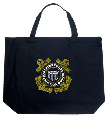 LA Pop Art Large Word Art Tote Bag - Coast Guard
