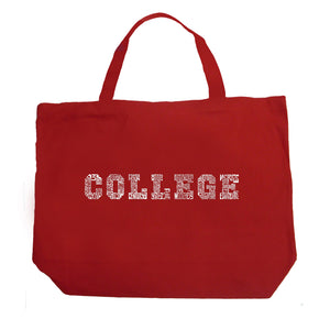 LA Pop Art Large Word Art Tote Bag - COLLEGE DRINKING GAMES