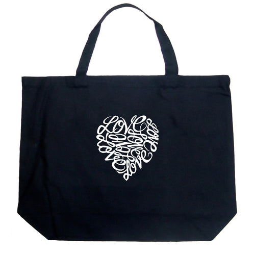 LA Pop Art Large Word Art Tote Bag - LOVE