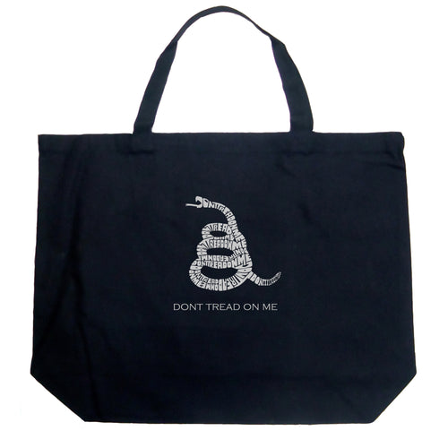 LA Pop Art Large Word Art Tote Bag - DONT TREAD ON ME