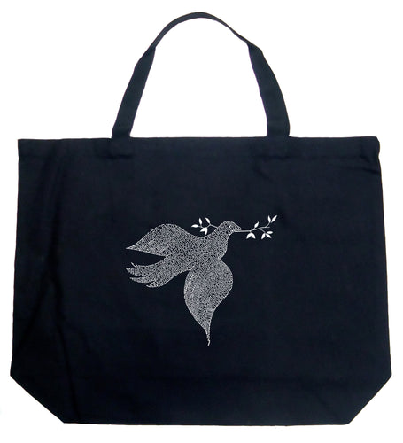 LA Pop Art Large Word Art Tote Bag - Dove